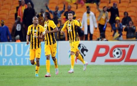 Kaizer Chiefs players celebrate after scoring a goal in the MTN 8 match against Maritzburg United. Picture: PSL/Facebook.
