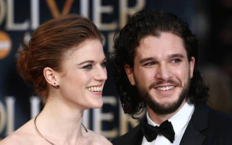 British actor Kit Harington (R) and British actress Rose Leslie (L) pose on the red carpet upon arrival to attend the 2016 Laurence Olivier Awards in London on 3 April 2016. Picture: AFP