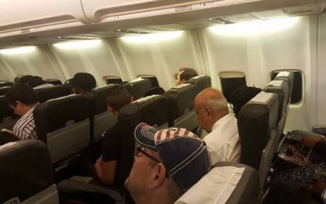 Finance Minister Pravin Gordhan flying economy to Johannesburg after SONA2016. Picture: @NchabelengAdil via Twitter