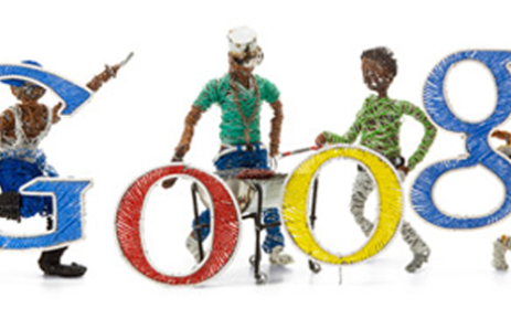 The world's top internet search engine, Google, has also joined in on the Freedom Day celebrations.