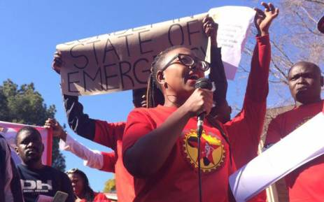 FILE: Numsa's Phakamile Hlubi. Picture: @phakxx/Twitter