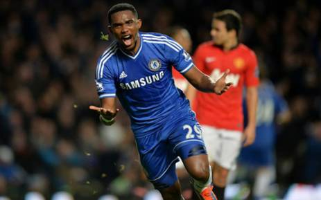 Chelsea striker Samuel Eto'o's hat-trick helped Chelsea to beat Manchester United 3-1 on 19 January 2014 in the English Premier League. Picture: Facebook.com