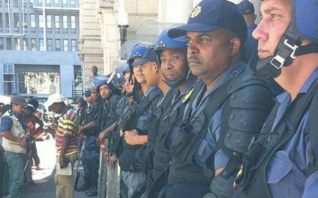 FILE: The DA claims not much is being done about policemen who lose their service pistols. Picture: Siyabonga Sesant/EWN