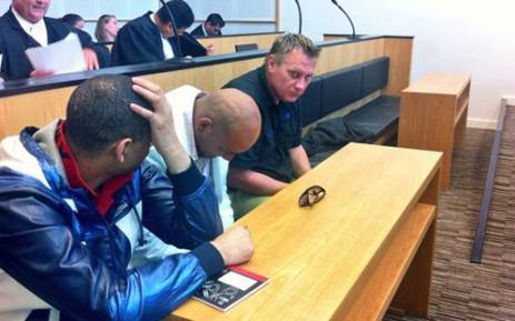 FILE: Murder accused Johan Coetzer, Fareez Allie and Achmat Toffa appear in the Western Cape High Court on 5 February 2014. Picture: Graeme Raubenheimer/EWN