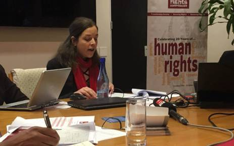 Senior researcher for Equality at SAHRC Shanelle van der Berg presenting the inequality report on 12 July 2018. Picture: Kgomotso Modise/EWN.