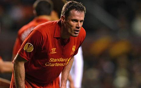 Liverpool's English defender Jamie Carragher. Picture: AFP