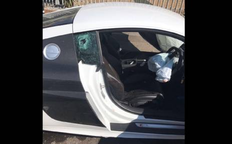 Ralph Stanfield and a friend were shot while travelling in a white Audi R8 near Melrose Arch in Johannesburg on 6 July 2017. Picture: Supplied.