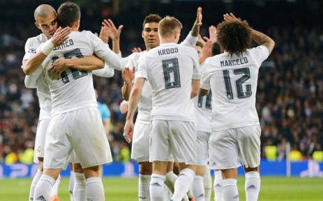 Real Madrid players celebrate their victory over AS Roma and booked a place in the Champions League quarter-finals on 8 March 2016. Picture: Real Madrid official Facebook page.