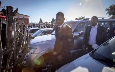 FILE: Duduzane Zuma leaves the Randburg Magistrates Court where he appeared on two charges of culpable homicide. Picture: Thomas Holder/EWN.