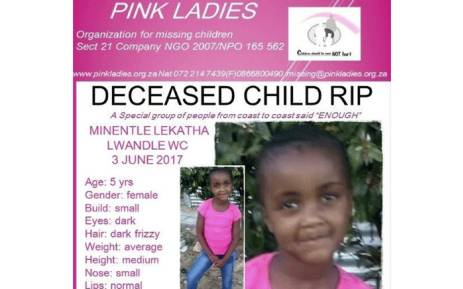 Minentle Lekatha's body was found in Nomzamo on Saturday 3 June 2017. Picture: Facebook.com.