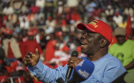 FILE: Movement for Democratic Change (MDC) leader Morgan Tsvangirai gestures as he addresses an MDC Alliance launch rally at White City Stadium in Bulawayo on 2 September 2017. Picture: AFP.