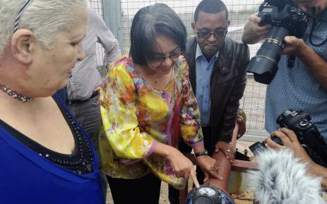 FILE: Cape Town Mayor Patricia de Lille visits the Atlantis Aquifer which was upgraded to produce an additional five million litres of water per day to residents in the community. Picture: @PatriciaDeLille/Twitter