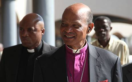 Anglican Bishop of Pretoria Joe Seoka arrives at the Rustenburg Civic Centre, for talks about the Lonmin wage impasse. Picture: Taurai Maduna/EWN.