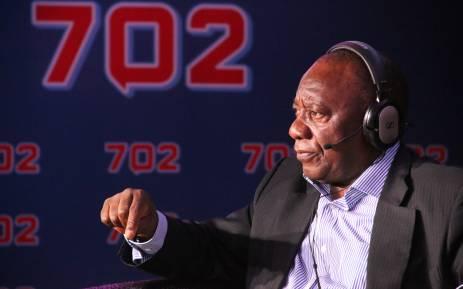 Presidential hopeful and deputy president Cyril Ramaphosa. Picture: Radio 702.