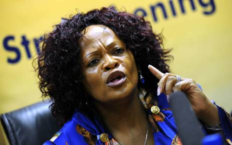 Gauteng premier Nomvula Mokonyane says staff shortages should not be used as an excuse for inadequate services to patients. Picture: Werner Beukes/SAPA