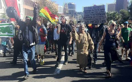 A march calling for the legalisation of dagga on 5 May 2013. Picture: Lauren Isaacs/EWN