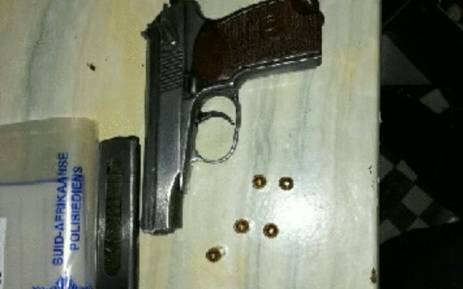 A star pistol that was found at a suspected gang member's house in Tafelsig. Picture: SAPS.