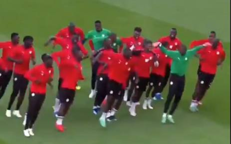 Senegal's national team during training. Picture: Twitter