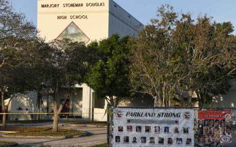 A general view of Marjory Stoneman Douglas High School as staff and teachers prepared for the return of students in Parkland, Florida on 27 February 2018. Picture: AFP