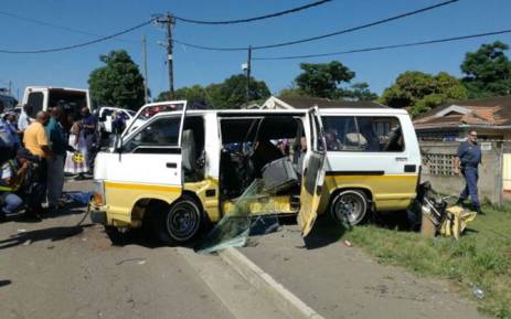 Four pupils have been killed in a collision in Ntuzuma, north of Durban. It's understood a minibus and a bus collided. Picture: @_ArriveAlive.