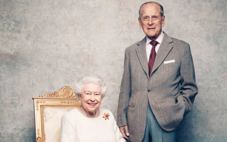 The new photograph released to commemorate the 70th wedding anniversary of Queen Elizabeth and Prince Philip. Picture: Kensington Palace.