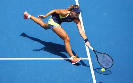Angelique Kerber in action at the 2018 Australian Open. Picture: @AustralianOpen/Twitter