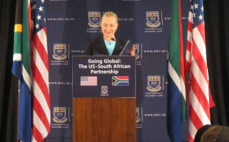US Secretary of State Hilary Clinton gave a lecture at the University of the Western Cape on 8 August 2012. Picture: Regan Thaw/EWN