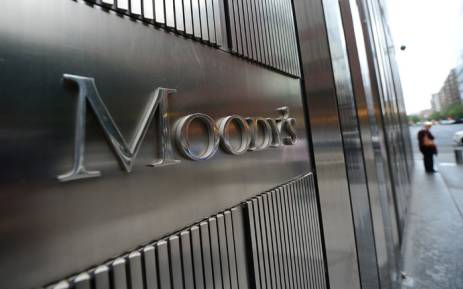 A sign for Moody's rating agency stands in front of the company headquarters in New York in 2012. Picture: AFP.