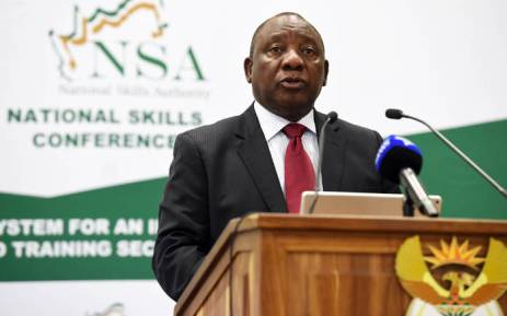 Deputy President Cyril Ramaphosa addresses the National Skills Conference at St George's Hotel and Conference Centre in Pretoria. Picture: GCIS.