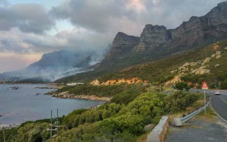FILE: A blaze in the Oudekraal-Camps Bay area. Picture: @vwsfires.