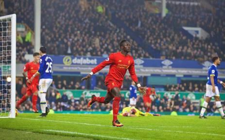 FILE: Liverpool forward Sadio Mane celebrates a goal. Picture: Facebook.
