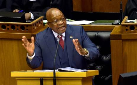 FILE: President Jacob Zuma answers questions in the National Assembly on 2 November 2017. Picture: @PresidencyZA/Twitter
