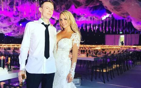 Deadmau5 posted this picture on Instagram after marrying Kelly 'Grill' Fedoni. Picture: instagram.com