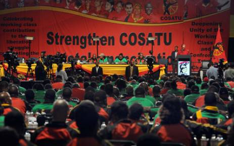President Jacob Zuma addressed the 11th National Congress of COSATU held at Gallagher Estate in Midrand. Picture: GCIS.