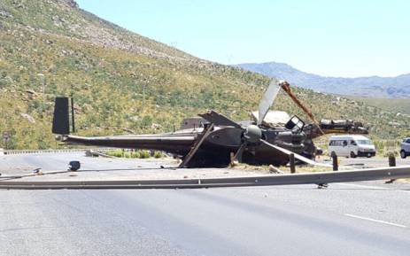 An SANDF helicopter crashed near Worcester on 10 December 2017. Picture: JP Smith/City of Cape Town