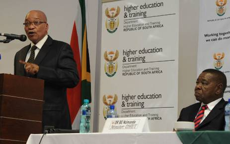 FILE: President Jacob Zuma speaking at a meeting with all Further Education and Training Principals at Saint George Hotel 04 April 2012. Picture: GCIS.