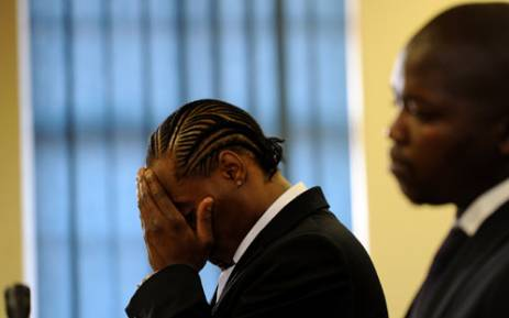 Musician Molemo 'Jub Jub' Maarohanye and Themba Tshabalala at the Protea Magistrate's Court on 10 October 2012. Picture: Werner Beukes/SAPA