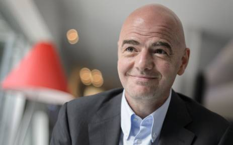 Italy's Gianni Infantino in Zurich. Picture: AFP.