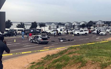 Police in Johannesburg arrested three suspects after a high-speed chase on 7 March 2018. Picture: Christa Eybers/EWN.