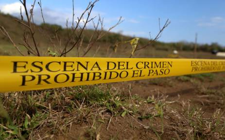 A crime scene in Mexico. Picture: AFP