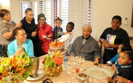 Family members with Nelson Mandela on his 94th birthday in Qunu, Eastern Cape, South Africa on 18 July 2012. Picture: Peter Morey