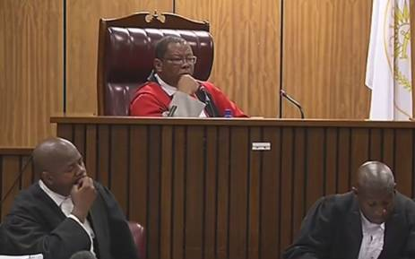 A screengrab of a Pretoria High Court judge listening to testimony in the Ahmed Timol death inquest. Picture: Supplied.