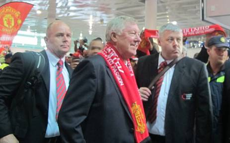 Manchester United arrives at Cape Town International Airport on 20 July 2012 ahead of their clash against Ajax Cape Town. Picture: Alicia Pillay/EWN