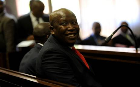 FILE: Expelled ANC Youth League president Julius Malema appears in the Polokwane Regional Court in Limpopo on Wednesday, 26 September 2012. Picture: Werner Beukes/SAPA.