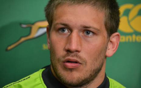 Springbok utility back Frans Steyn during a press conference in Cape Town on 15 August 2012. Picture: Aletta Gardner/EWN.