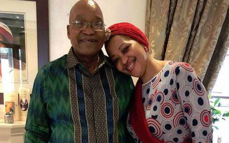 President Jacob Zuma and his wife Thobeka Madiba-Zuma. Picture: Instagram