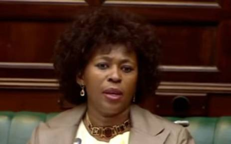FILE: A screengrab of MP Makhosi Khoza in Parliament.