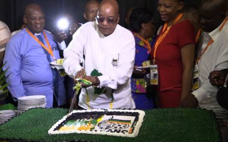 A screengrab picture showing President Jacob Zuma at the ANC 104th birthday celebration at Royal Bafokeng Stadium in Rustenburg on 9 January 2016.