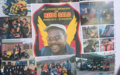 Motorbike enthusiast Rudi Salo was laid to rest in Hawston on 13 February 2016. Picture: Monique Mortlock/EWN