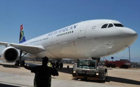 FILE: An SAA aircraft. Picture: Elmond Jiyane/GCIS